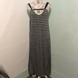 Feel The Piece Terre Jacobs Gray/Blue Striped Maxi